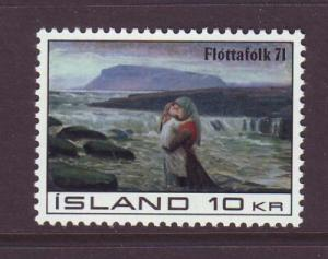 Iceland Sc 428 1970 Refugee Campaign stamp mint NH
