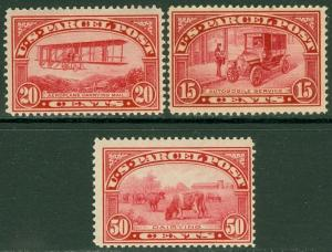 EDW1949SELL : USA 1913 Scott #Q8-10 Mint NH. All are Very Fresh. Catalog $1,065.