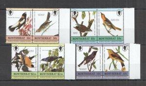 LED10 MONTSERRAT BIRDS FAUNA LEADERS OF THE WORLD SET MNH