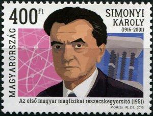 Hungary. 2016. Centenary of the Birth of Károly Simonyi (MNH OG) Stamp