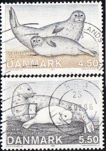 Denmark #1343-1344  Used
