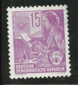 German DDR  Scott 161 perf 13x12.5 MH* 1953 stamp CV $2.40