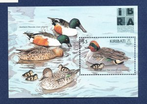 KIRIBATI - Scott 741 - FVF MNH  S/S - ducks, birds, IBRA Philatelic Exib - 1999