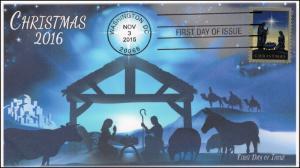2016, Nativity, Christmas, FDC, BW,  16-355