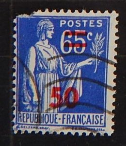 France, 1937-1938, New values, SC #271, (1813-Т)