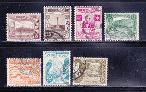Peru C49-C53, C55-C56 U Various