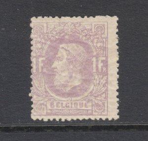 Belgium Sc 36 MLH. 1870 1fr dull lilac King Leopold II, Scarce