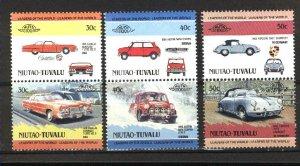 Tuvalu -Niutao 4,5,7   Pairs   Mint NH VF 1984-85 PD