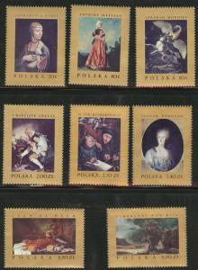 Poland Scott 1551-1558 MNH** 1967 Masterpiece Painting set
