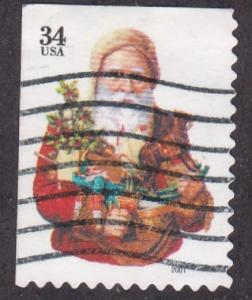 U.S. # 3537, Santa Claus Booklet Single, Used