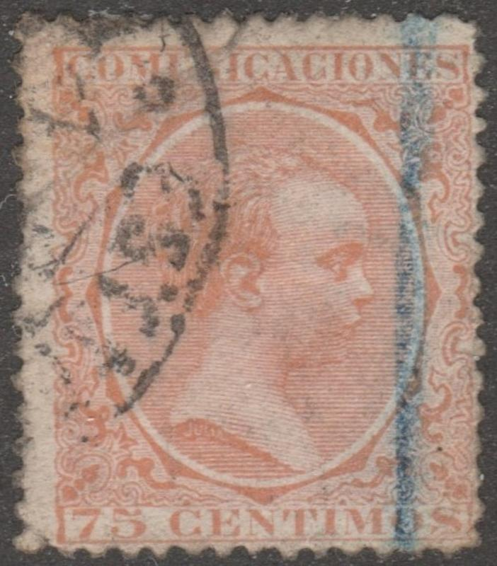 Spaim, Scott# 267, used, orange, 75 centi, #M415
