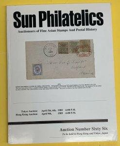 Asian Stamps & Covers, Sun Philatelics, Sale 66, April 5,6, & 9, 1989