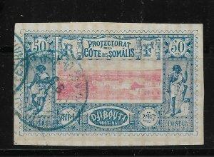 French Somali Coast 1894, 50c Scott # 16 ,VF Used (SL-1)
