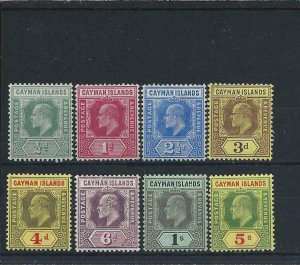 Cayman Is 1907-09 set to 5s (8) MM SG 25/32 Cat £150+