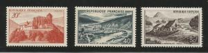 FRANCE 630-632 MINT HINGED ABBEY OF ST. BERTRAND