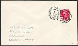 GB SCOTLAND 1970 cover SNIZORT / PORTREE /  ISLE OF SKYE cds...............54323