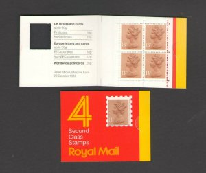 GB: Sc. BK285 /** 52 PENNY-QE II DECIMAL ** / Folded Window Booklet /MNH