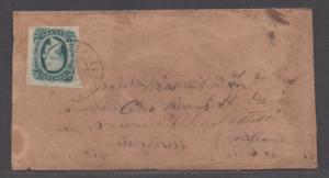 **CSA Cover, SC# 12, Charlottesville, VA, 12/18/1864, Turned Cover
