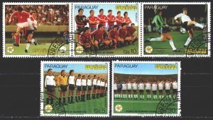 Paraguay. 1982. 3489-91. Spain-82, football. USED.