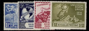 BECHUANALAND PROTECTORATE GVI SG138-141, anniversary of UPU set, M MINT.