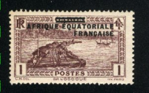 French Equititorial Africa #1  Mint NH VF 1936 PD