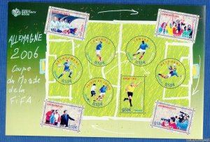 2006 FRANCE - SG: MS 4182 - WORLD CUP, GERMANY - UNMMOUNTED MNT