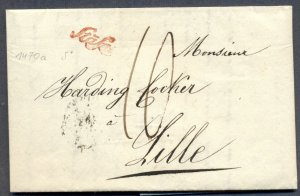 SWITZERLAND: 1848 Stampless Cover from Stafa (Single Line Script) to Zurich