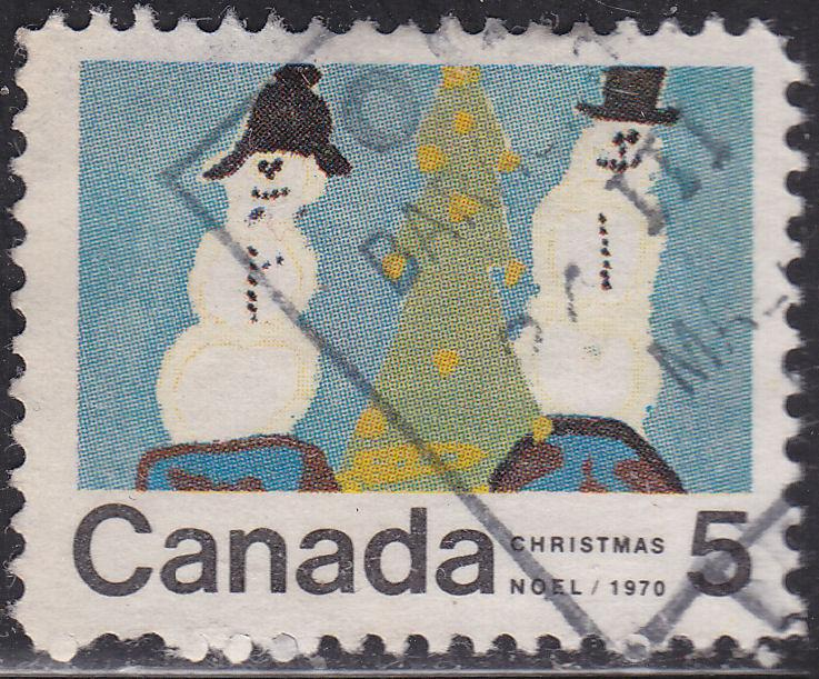 Canada 523 USED - 1970 Snowman & Christmas Tree