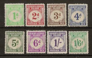 Gilbert & Ellice Islands 1940 Dues Set SG.D1-D8 Mint Cat£180