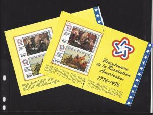 Togo, C273a, U.S. BiCentennial Perf & Imperf S/S (2), MNH