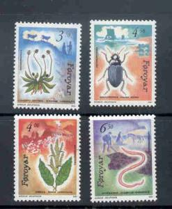 Faroe Islands Sc 216-19 1991 Flora & Fauna stamp set mint NH