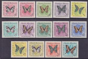 French Guinea Regular & Airmail Issues BUTTERFLIES in Various Colors Very Fine