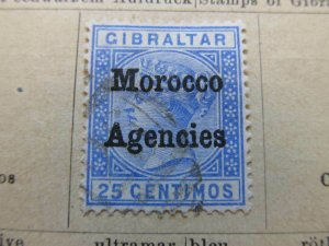 British Morocco 1898 Wmk Mult Crown CA 25c fine used stamp A11P30F9