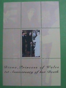 KYRGYZSTAN STAMP- 1ST ANNIV: OF PRINCESS DIANA DEATH-MINT-NH  S/S  SHEET