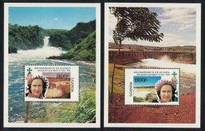 Uganda 40th Anniversary of Queen Elizabeth II's Accession 2 MSs SG#MS1083