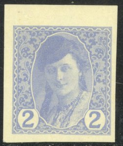 BOSNIA AND HERZEGOVINA 1913 2h THICK PAPER Newspaper Stamp Sc P1 PROOF MNH