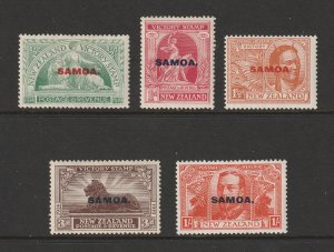 Samoa the 1920 New Zealand Victory set overprinted MH