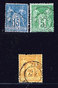 FRANCE STAMP OLD USED STAMP COLLECTION LOT #T2