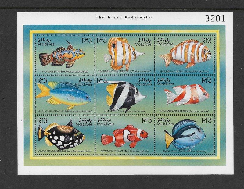 FISH - MALDIVES #2340  MNH