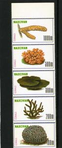 Naxcivan Republic 1997 Cactus Strip (5) Perforated mnh.vf