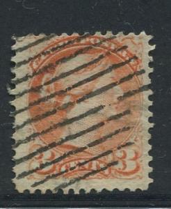 Canada -Scott 37 - Queen Victoria -1873 - Used - Single 3c Stamp