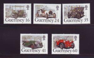 Guernsey Sc Sc 531-5 1994 Classic Cars stamps NH