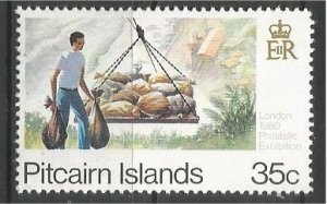 PITCAIRN ISLANDS, 1980, MNH 35c, Transport Scott 192b