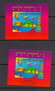 United Nations New York 1997 MNH earth summit 2 sheets  vepv