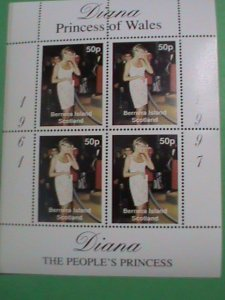 SCOTLAND STAMP-1997-DIANA- PRINCESS OF WALES -USING PHONE-MINT-NH  S/S  SHEET