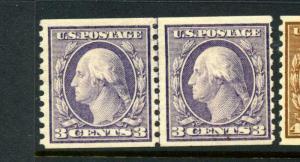 Scott #456 Washington Mint Line  Pair  (Stock #456-60)