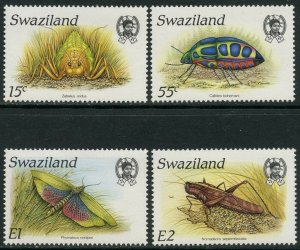 SWAZILAND Sc#531-534 1988 Insects Complete Set OG Mint NH