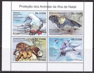 Sao Tome and Principe, Fauna, Animals, Birds MNH / 2011