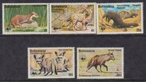 Botswana 1977 SC 182-186 MNH Set World Wildlife Animals