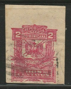 Dominican Republic Postal Stationery Cut Out A17P5F827